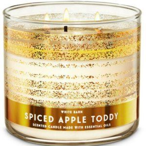 White Barn Spiced Apple Toddy 3-Wick Candle